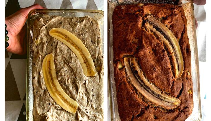 Bananowy chlebek. Wegański i bezglutenowy.
